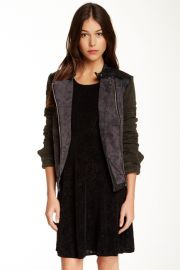Free People Mixed Media Jacket at Nordstrom Rack