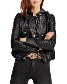 Free People New Dawn Hooded Faux-Leather Jacket Women - Bloomingdale s at Bloomingdales