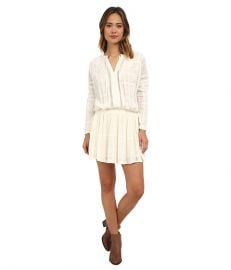 Free People Nomad Peasant Dress Ivory at 6pm