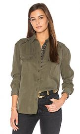 Free People Off Campus Button Down Top in Moss from Revolve com at Revolve