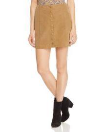 Free People Oh Snap Faux Suede Skirt at Bloomingdales