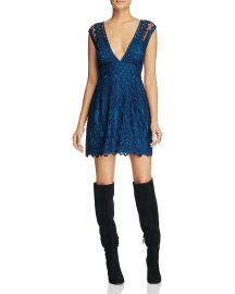 Free People One Million Lovers Lace Dress Blue at Bloomingdales