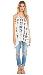 Free People Peace and Arrow Tunic in Oatmeal Combo  REVOLVE at Revolve