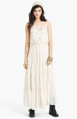 Free People Penny Lace andamp Georgette Maxi Dress at Nordstrom