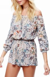 Free People Pretty   Free Off the Shoulder Romper at Nordstrom