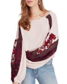 Free People Print-Sleeve Top Women - Bloomingdale s at Bloomingdales
