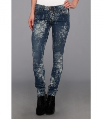 Free People Printed Elle Jean in Indigo Combo Indigo Combo at 6pm