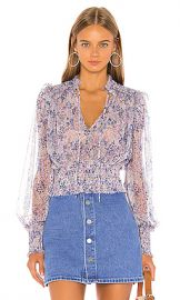 Free People Printed Twyla Top in Lilac from Revolve com at Revolve