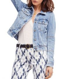 Free People Rumors Denim Jacket in Indigo Blue Women - Bloomingdale s at Bloomingdales