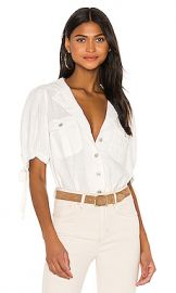 Free People Safari Babe Top in White from Revolve com at Revolve