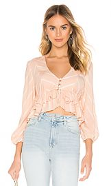 Free People Samifran Top in Peach from Revolve com at Revolve