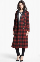 Free People Sargent Plaid Coat at Nordstrom