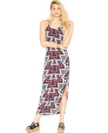 Free People Serves You Right Printed Side-Slit Maxi Dress at Macys
