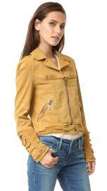 Free People Shrunken Jean Jacket in Honey at Shopbop