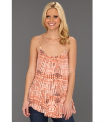 Free People Sierra Tank Coral Combo at 6pm