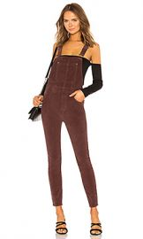 Free People Slim Ankle Cord Overall in Chocolate from Revolve com at Revolve