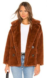 Free People Solid Kate Faux Fur Coat in Terracotta from Revolve com at Revolve