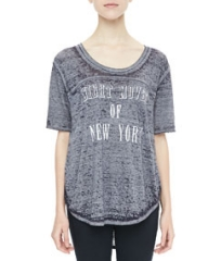 Free People Spring Time Heathered Tee at Neiman Marcus