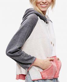 Free People Tri-Color Pullover Hoodie at Macys
