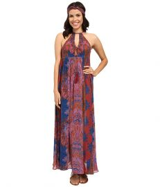Free People Unattainable Maxi Dress Pink Combo at Zappos