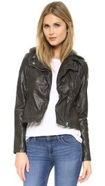 Free People Vegan Leather Hooded Moto Jacket at Shopbop