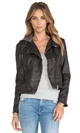 Free People Vegan Leather Hooded Moto Jacket in Black from Revolve com at Revolve