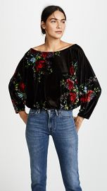 Free People Velvet Slouch Babe Bodysuit at Shopbop