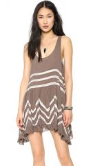 Free People Voile andamp Lace Trapeze Tank in brown at Shopbop