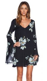 Free People Wanderer Mini Dress in Charcoal Combo at Revolve