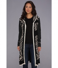 Free People White Moon Cardigan Charcoal at 6pm