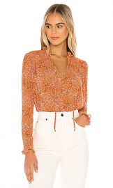 Free People X REVOLVE Lela Blouse in Coral Combo from Revolve com at Revolve
