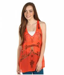 Free People and39Bead Itand39 Embellished Tank in orange at Nordstrom
