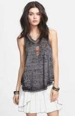 Free People and39Breezyand39 Seam Detail Slub Knit Tank in black at Nordstrom
