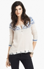 Free People and39Cabin in the Woodsand39 Pieced Henley Top at Nordstrom
