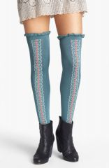 Free People and39Daisy Trailand39 Over the Knee Socks in blue at Nordstrom