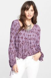 Free People and39Dazedand39 Print Jersey Top at Nordstrom