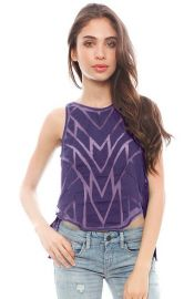 Free People and39Ethereal Daze Gingerand39 Sheer Panel Envelope Tank in purple at Nordstrom