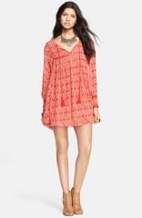 Free People and39Marlowand39 Print Pintuck Pleat Shift Dress at Nordstrom