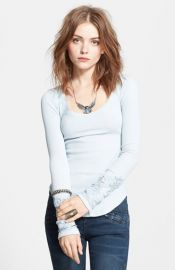 Free People and39Masqueradeand39 Beaded Cuff Thermal Top at Nordstrom