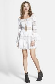 Free People and39Pippaand39 Gauze Fit andamp Flare Dress at Nordstrom