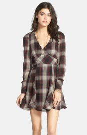 Free People and39Teen Spiritand39 Plaid Minidress at Nordstrom