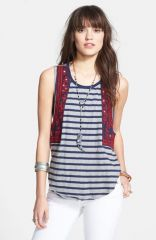 Free People and39Wear Your Sparkleand39 Embroidered Stripe Tank at Nordstrom