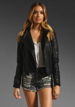 Free People vegan leather jacket at Revolve