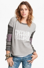 Freedom mixed media top by Free People at Nordstrom