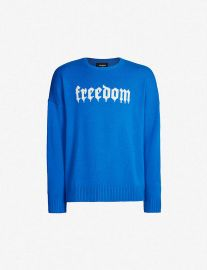 Freedom print Jumper by The Kooples at Selfridges