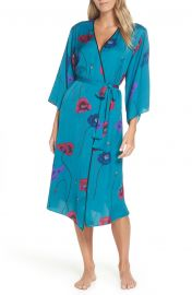 Freestyle Printed Satin Long Robe by Josie at Nordstrom