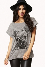 French Bulldog tee at Forever 21