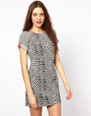 French Connection Animal Instincts Dress at Asos