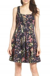 French Connection Bluhm   Botero Fit   Flare Dress at Nordstrom