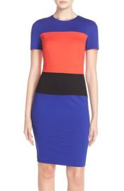 French Connection ColorblockJersey Sheath Dress at Nordstrom